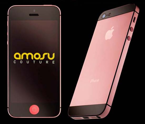 First ever iPhone in Pink colors thanks to Amosu