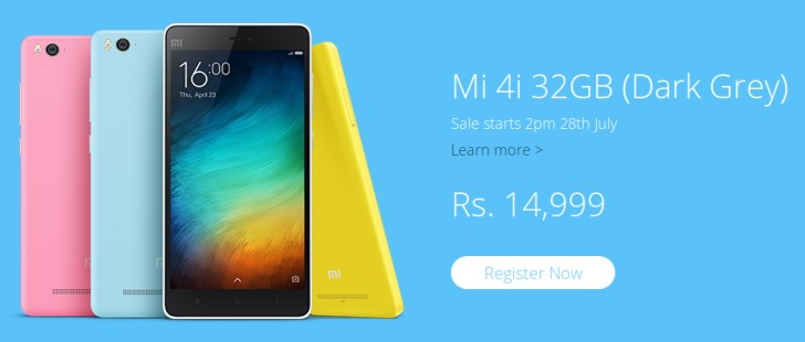 Xiaomi Mi 4i with 32GB new model priced at $235