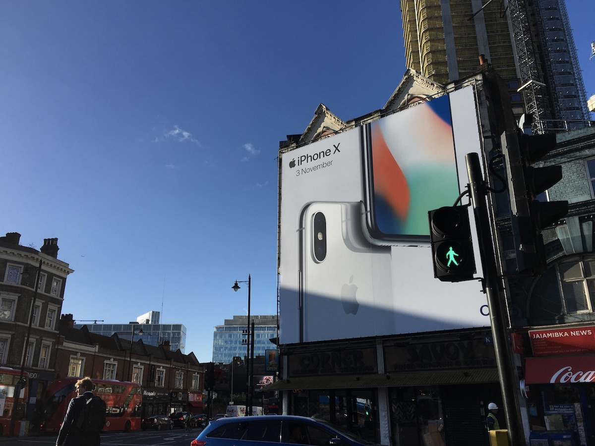 iPhone X makes waves as its promo billboards appear around the world