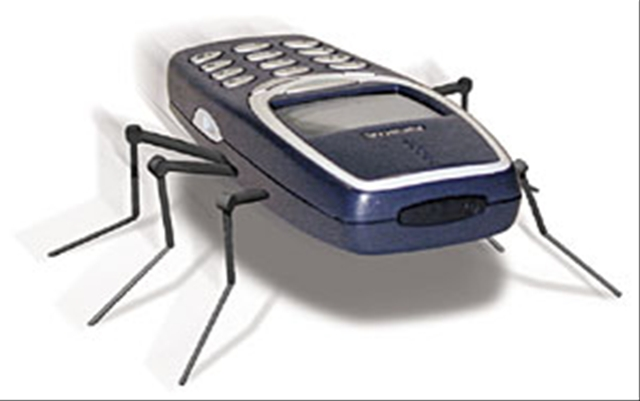 Bug-infested phone or eew, just eew