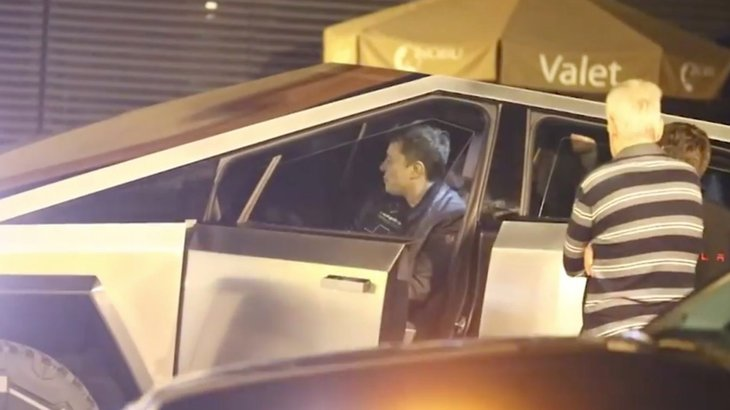 Elon Musk taped joyriding in Los Angeles in his new Cybertruck car