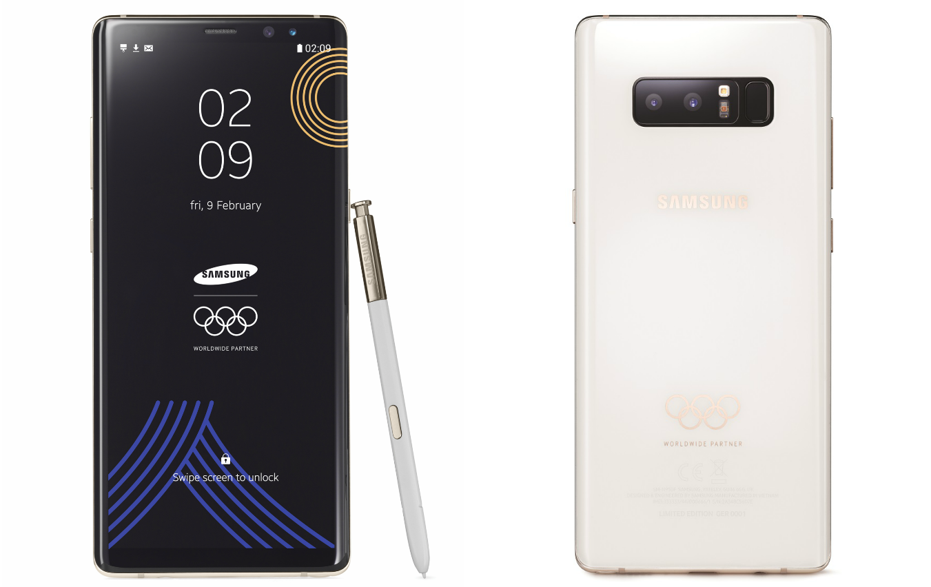 Samsung Galaxy Note 8 Olympic Games Limited Edition and how you will not get one