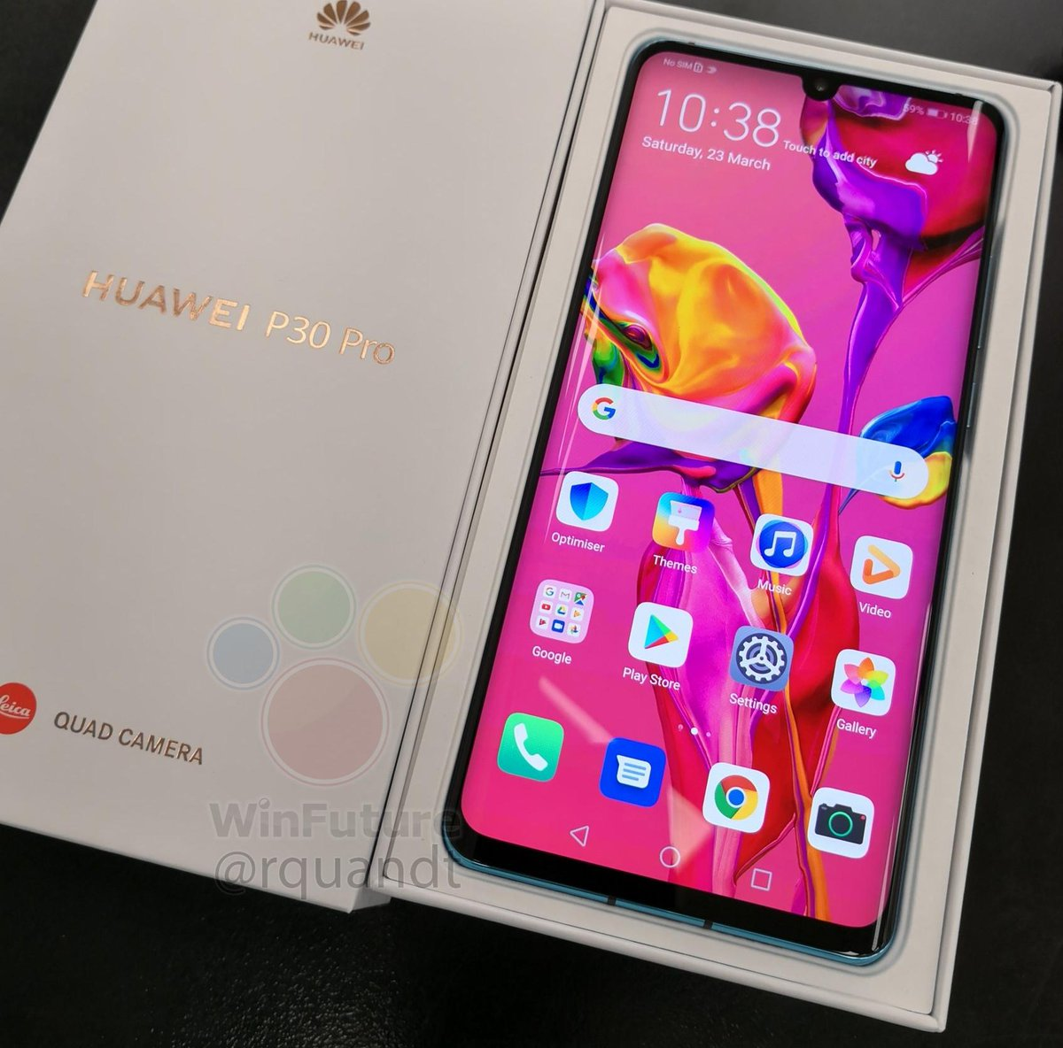 Picture of the Huawei P30 Pro box has leaked ...