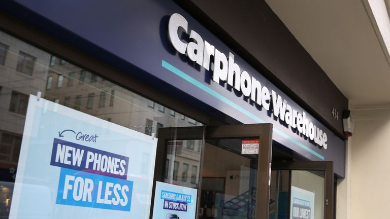 Carphone Warehouse stores in the UK are closing down