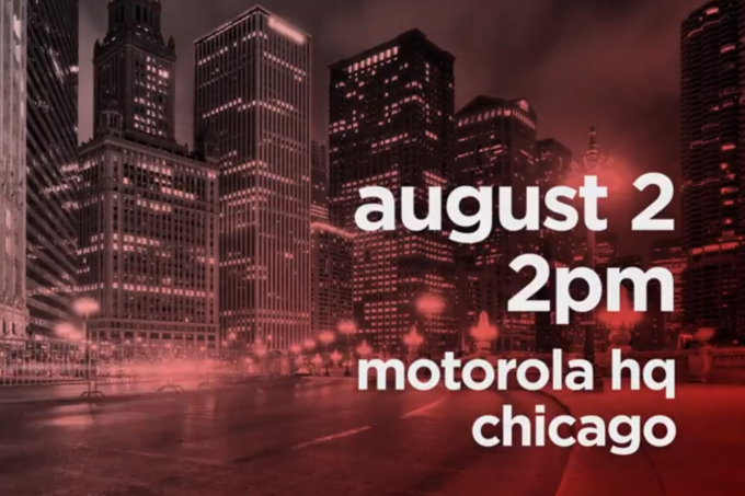 Motorola announces an August 2nd event. Three new phones may be unveiled