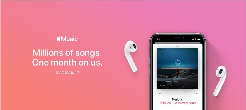 Apple Music Trial time may be shortened from three to just one month
