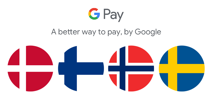 Google Pay is now available in Norway, Finland, Denmark and Sweden