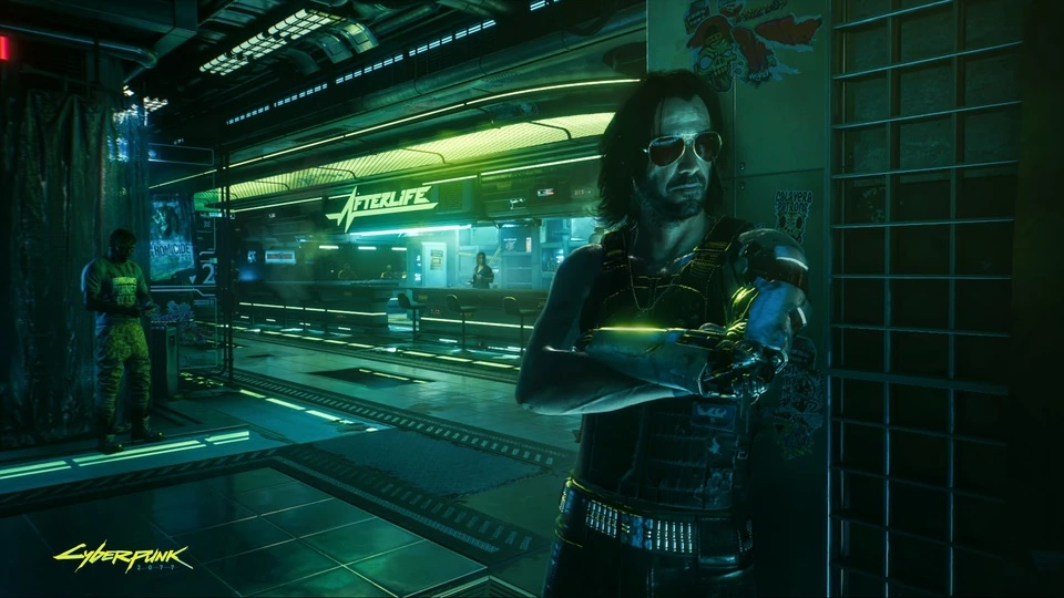 Cyberpunk 2077 on new screenshots. Characters, locations and interface
