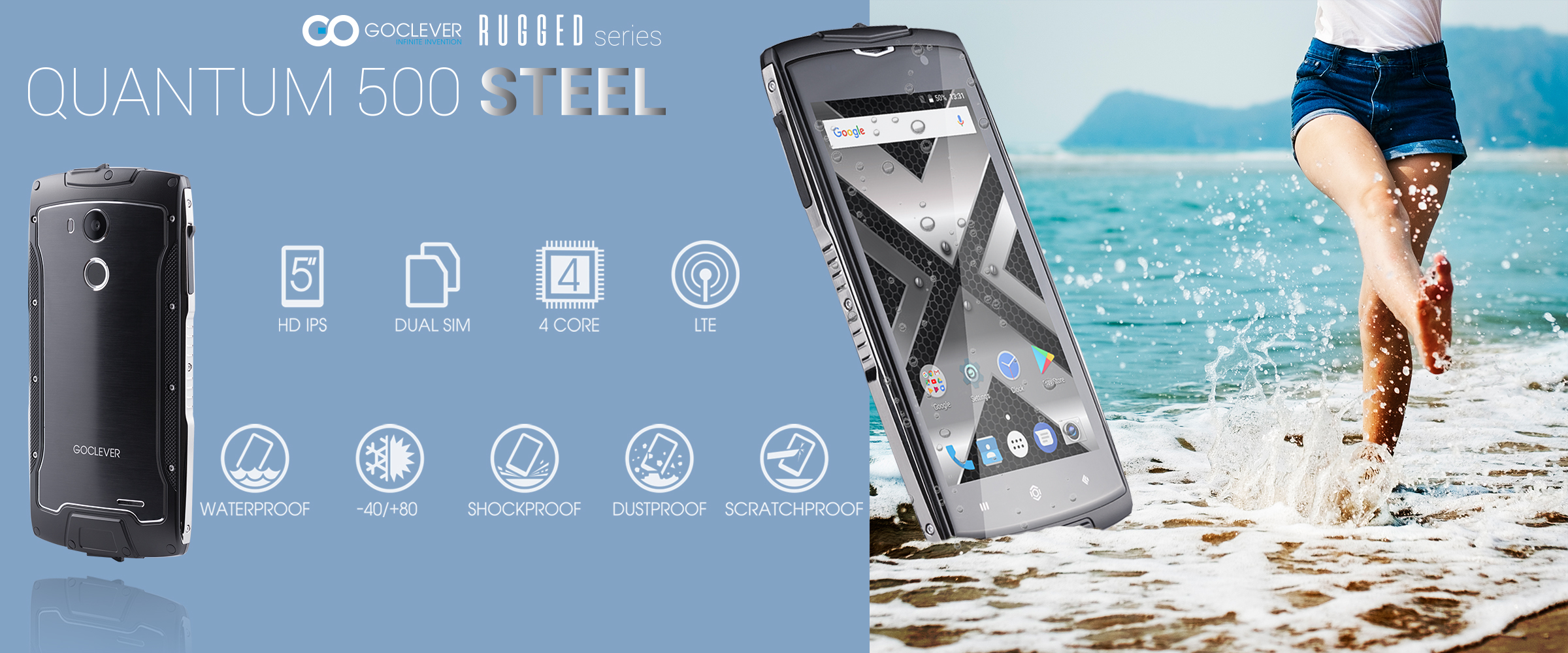 GOCLEVER Quantum 500 Steel, a durable phone for a reasonable price