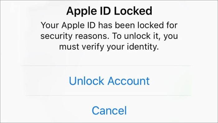 Apple ID of some users locked, reason unknown