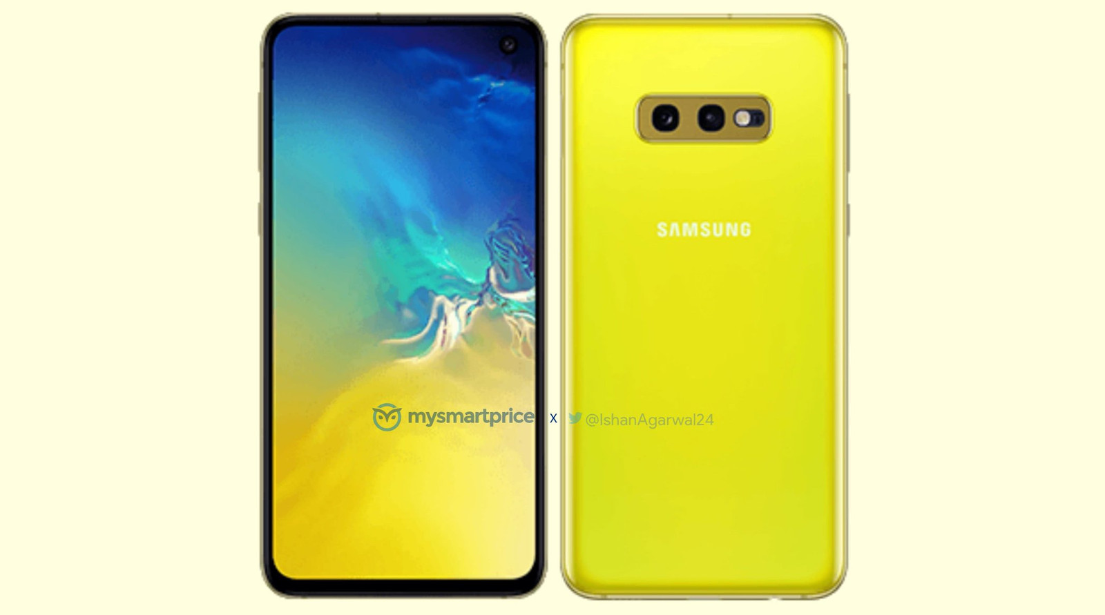 Samsung Galaxy S10e revealed in a new colour variant. Yay