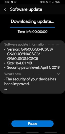 Sprint release of Samsung Galaxy S9 series gets this month's security updates