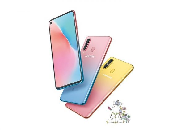 Yaay, pretty shiny gradient colours for Samsung Galaxy A8s