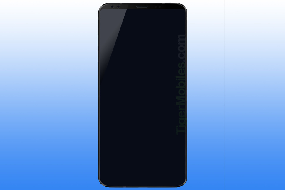 Leaked render of LG G7 shows a really bezel-less phones