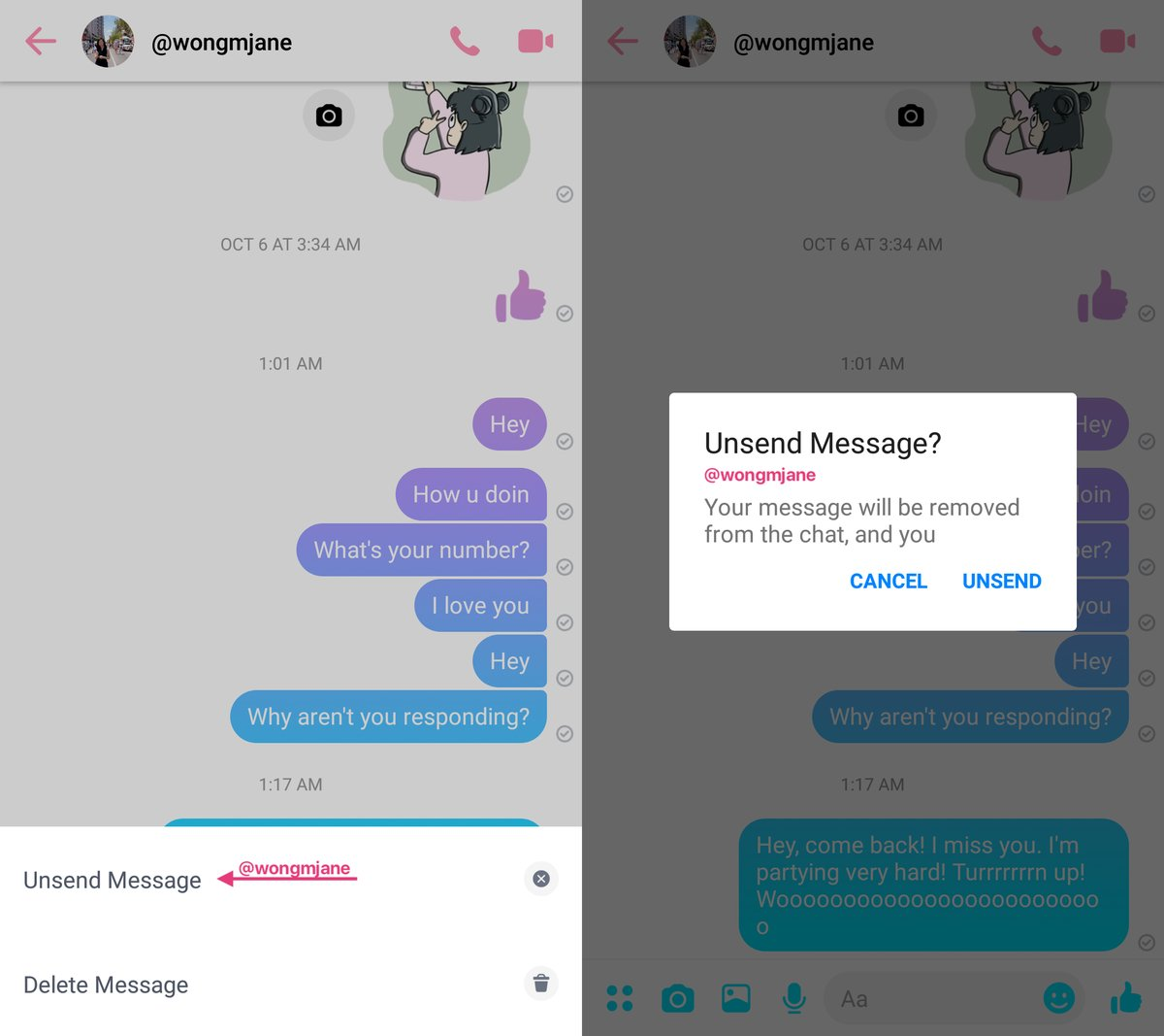 Messenger will soon allow us to delete sent messages