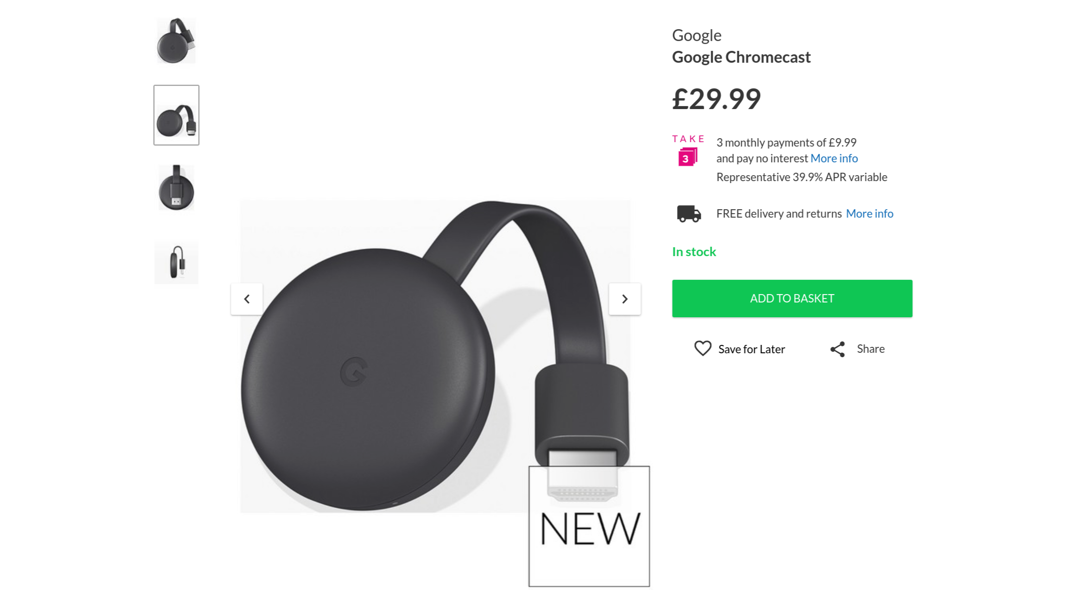 Chromecast is available in the UK before its official announcement