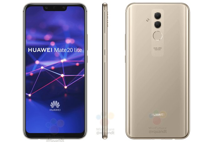 Render and some of Huawei Mate 20 Lite's specs