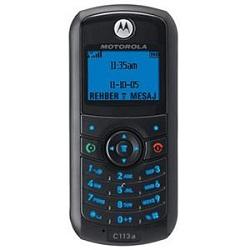 Unlocking by code Motorola C113a