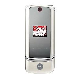 Unlocking by code Motorola K1m KRZR White